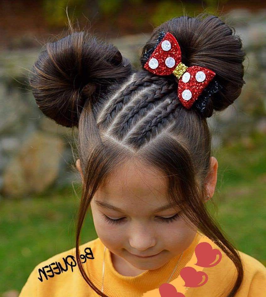 Pin On Ariana & Ashley With Regard To Most Recent Minnie Mouse Buns Braid Hairstyles (Gallery 2 of 20)