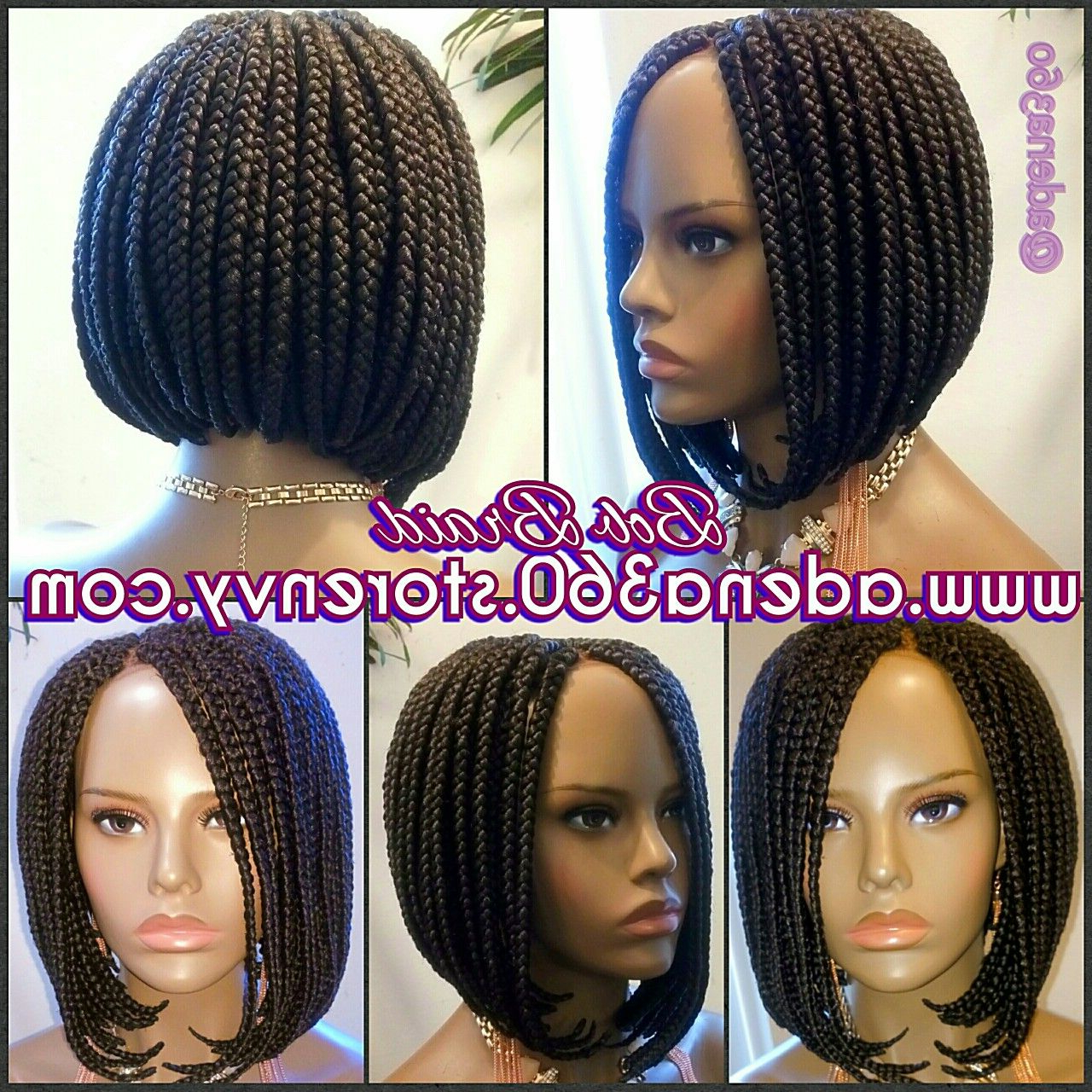 Pin On Bob Braids Wig Intended For Newest Bumped And Bobbed Braided Hairstyles (View 8 of 20)
