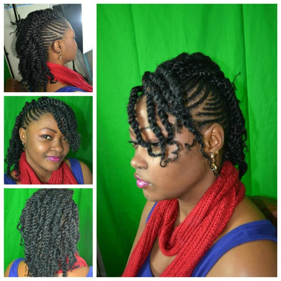 Pin On Braids, Cornrows, Twists, Flat Twists, Locks Inside Well Liked Updo Hairstyles With 2 Strand Braid And Curls (Gallery 1 of 20)