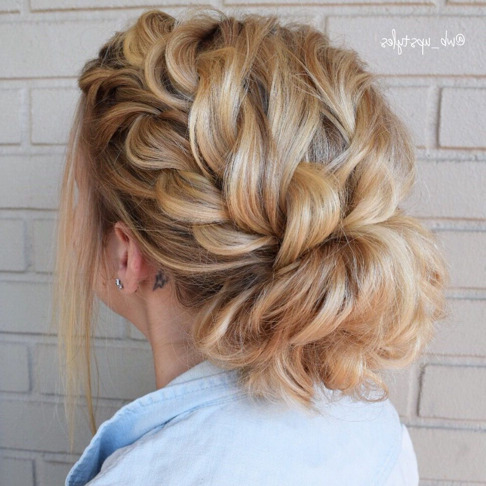 Pin On ❤ Hair Beauty Inside 2019 Messy Rope Braid Updo Hairstyles (Gallery 5 of 20)
