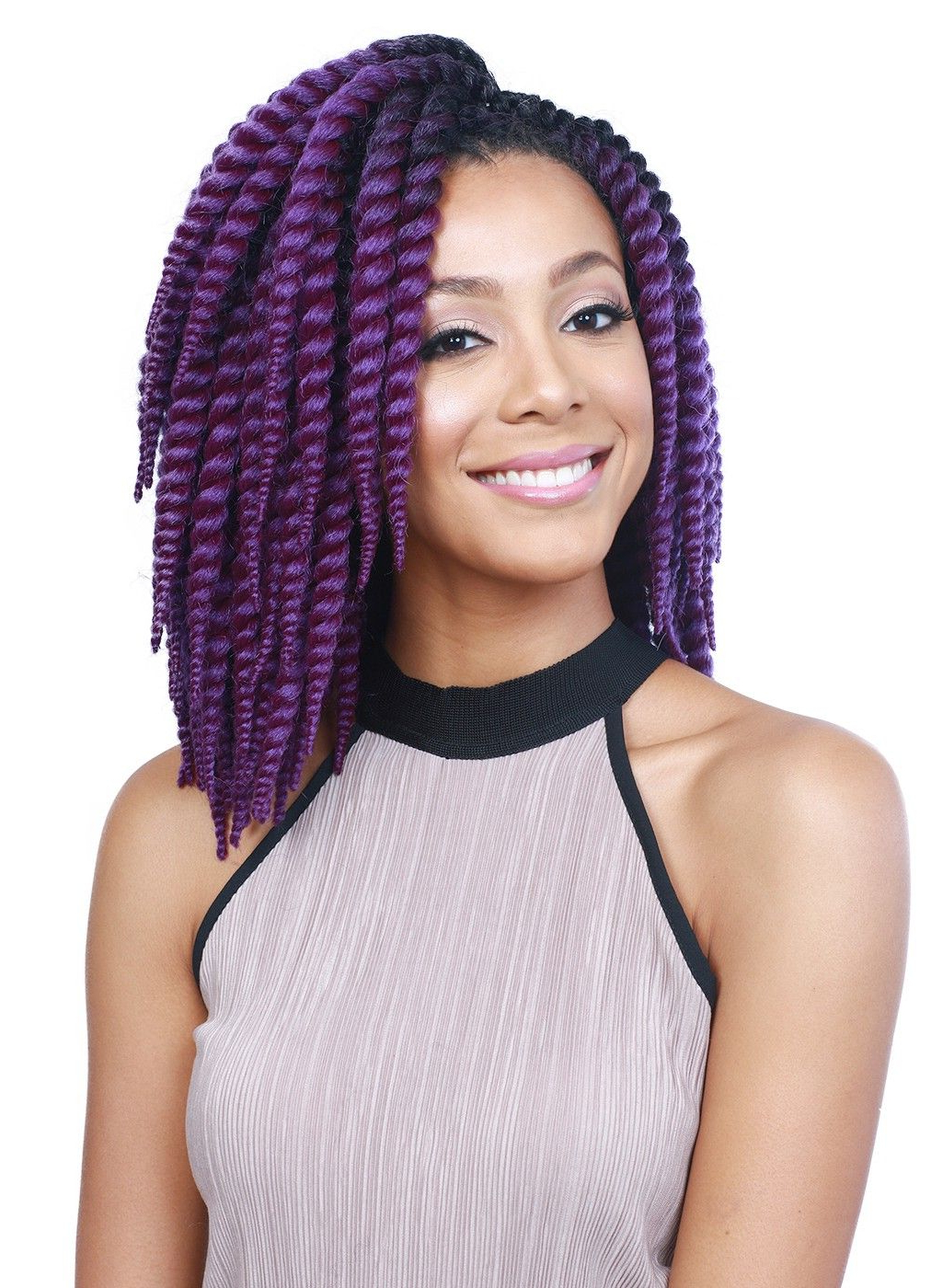 Pin On Ebonyline Braid Collection With Famous Skinny Braid Hairstyles With Purple Ends (Gallery 5 of 20)