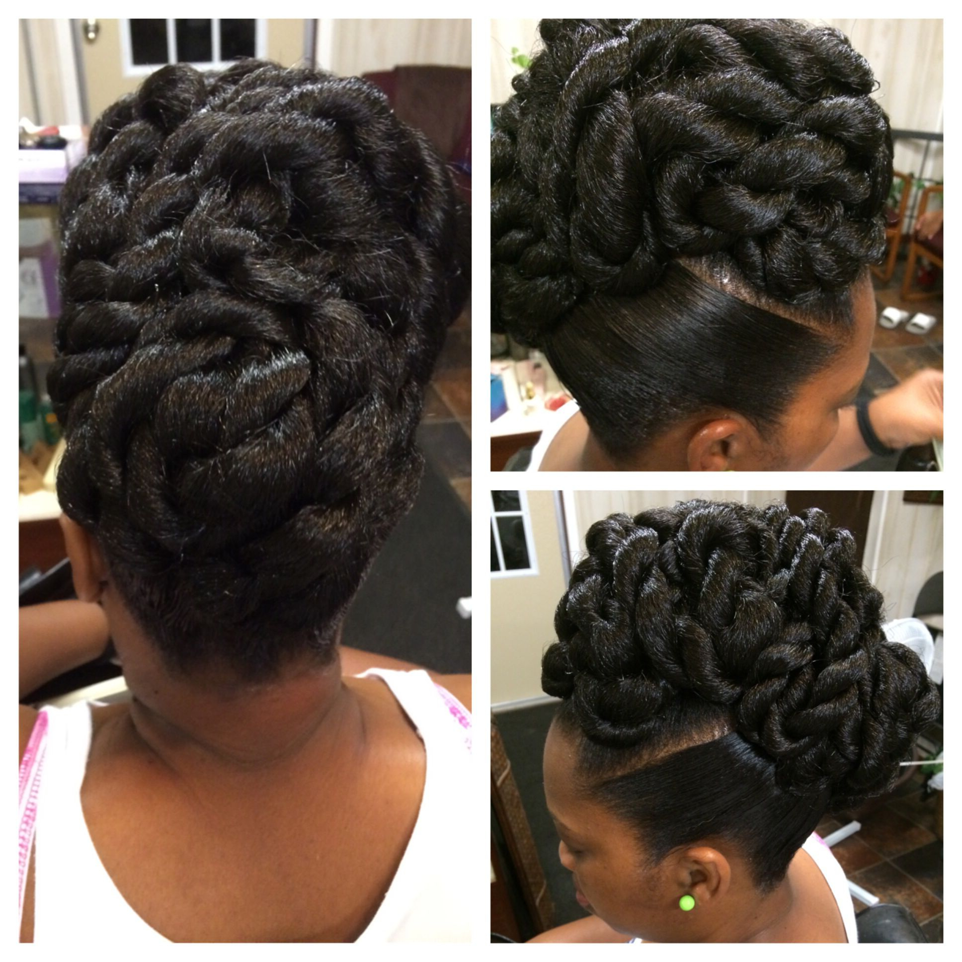 Pin On Explicit Hair Designs With Most Up To Date Twisted Rope Braid Updo Hairstyles (View 15 of 20)