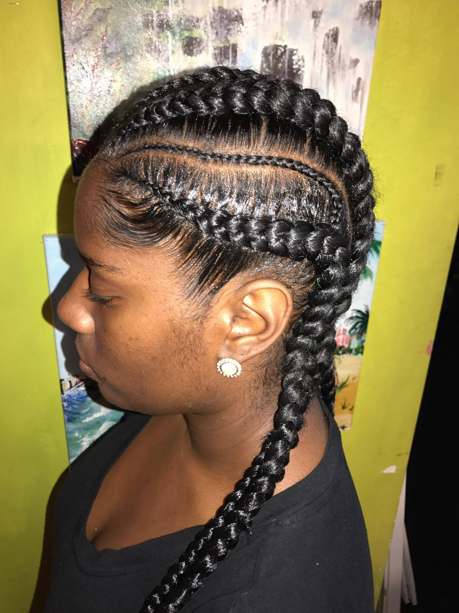 Pin On Ghanna Braid Styles In Well Known Skinny Curvy Cornrow Braided Hairstyles (Gallery 7 of 20)