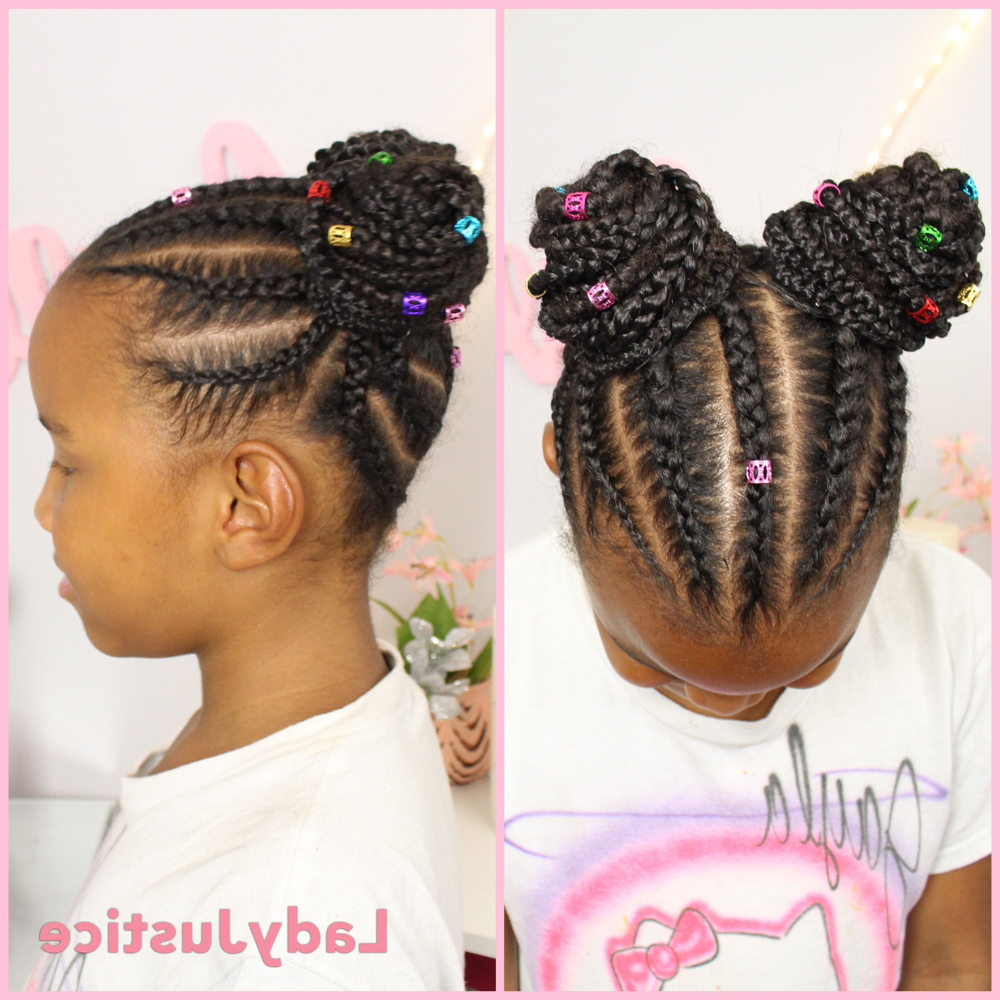 Pin On Girls Hairstyle Pertaining To Well Known Pulled Back Beaded Bun Braided Hairstyles (View 5 of 20)