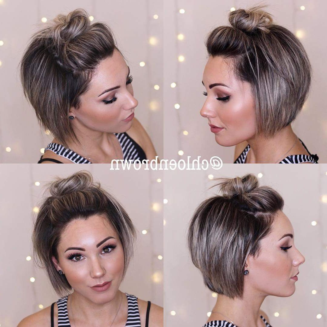 Pin On Got The Look Inside Latest Stacked Mini Buns Hairstyles (View 18 of 20)