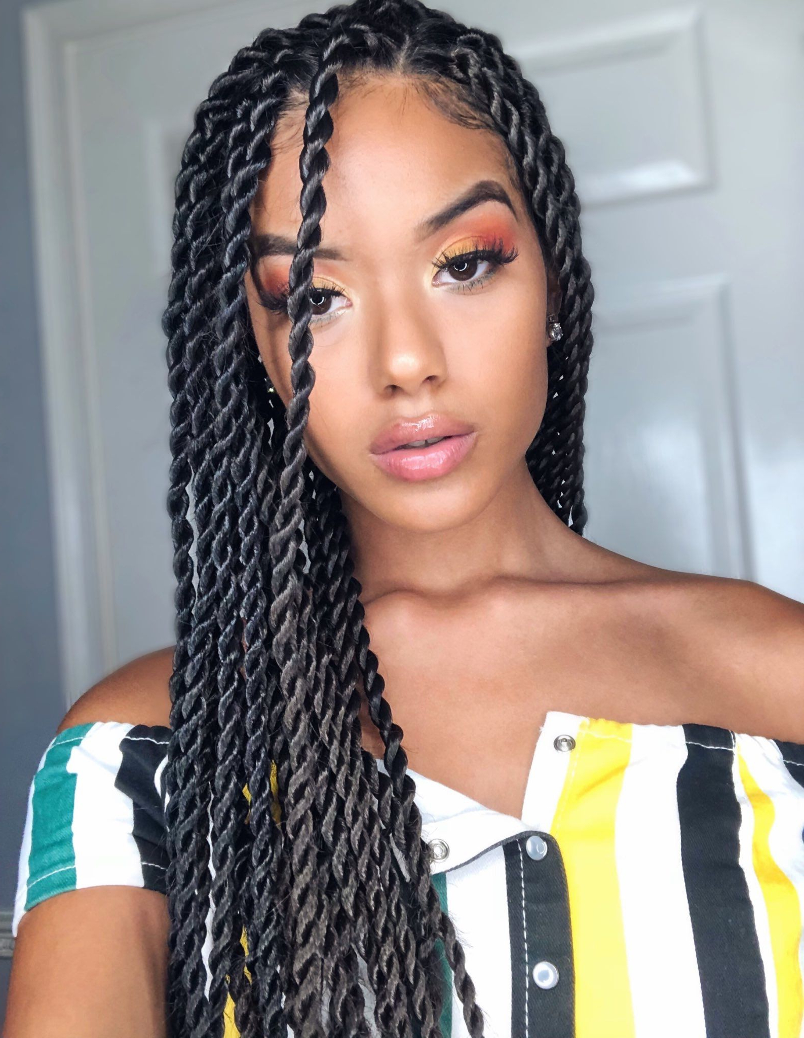 Pin On Hair Stylez In Best And Newest Side Swept Yarn Twists Hairstyles (Gallery 2 of 20)