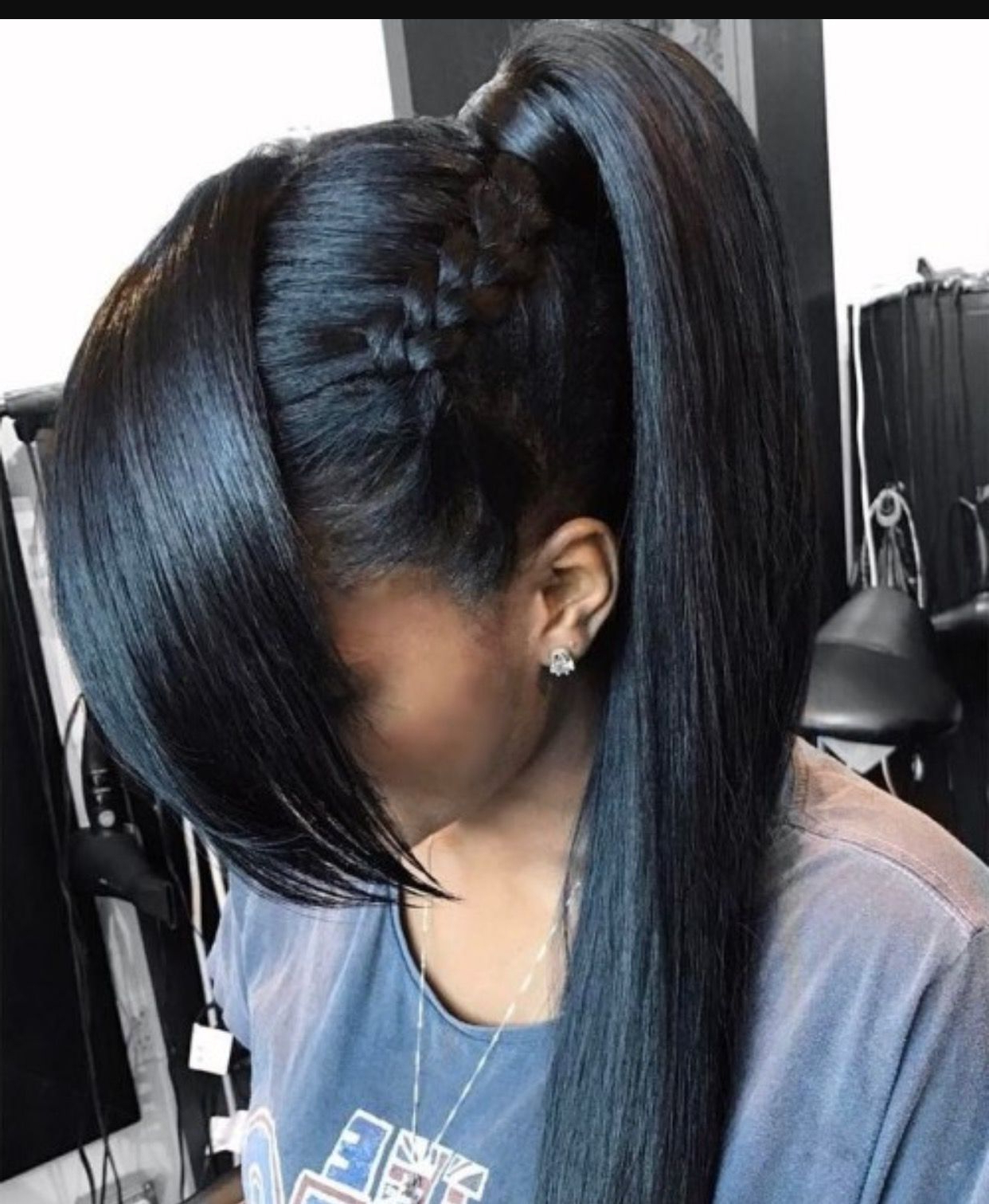 Pin On Hairtastic Throughout Well Known Side Pony And Raised Under Braid Hairstyles (View 17 of 20)