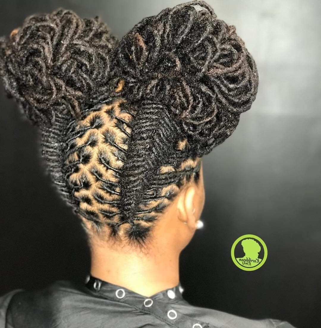 Pin On Loc Goals For Famous Tightly Coiled Gray Dreads Bun Hairstyles (Gallery 7 of 20)