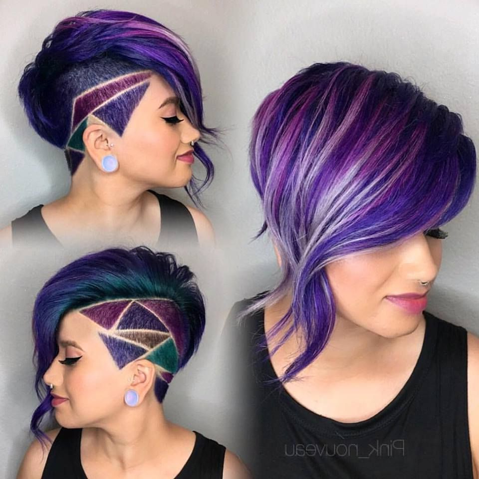 Pin On Makeup, Hair, And Nails For 2019 Purple Pixies Bob Braid Hairstyles (Gallery 7 of 20)