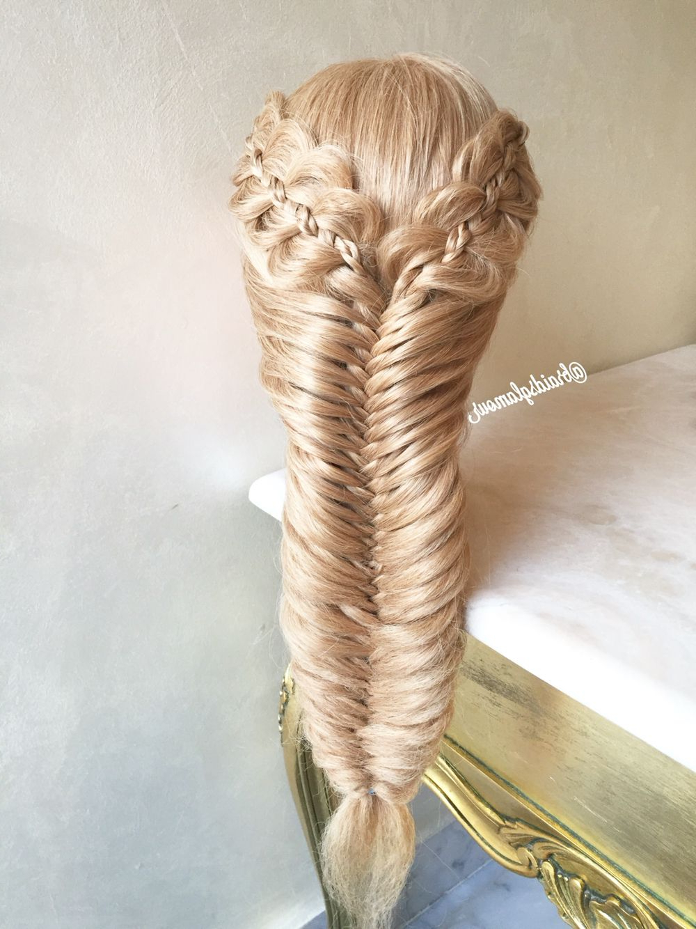 Pin On My Braids Inside Most Recently Released Micro Braids In Side Fishtail Braid (Gallery 11 of 20)