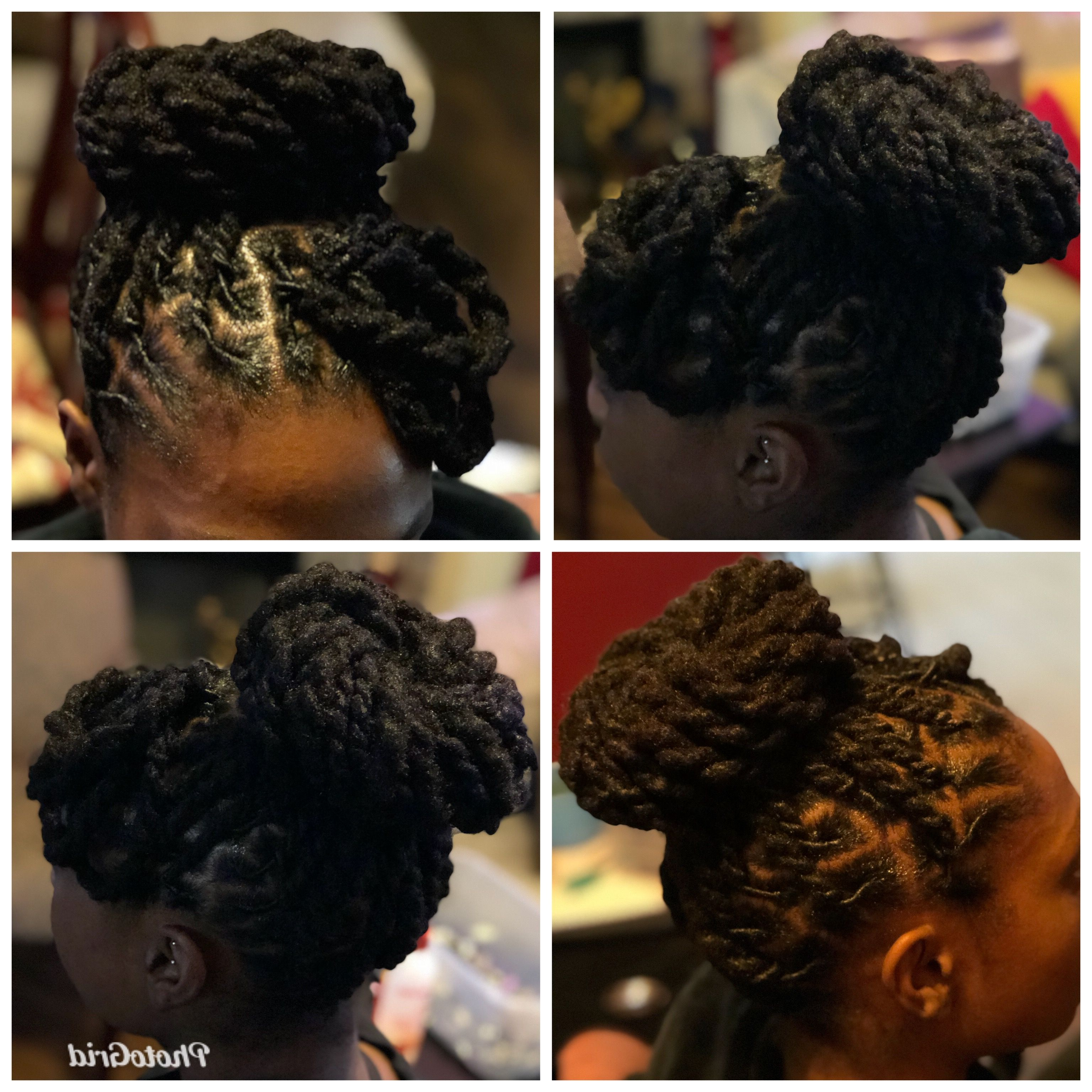 Pin On My Creations, Retwists & Starter Locs Throughout 2020 Updo Hairstyles With 2 Strand Braid And Curls (View 16 of 20)