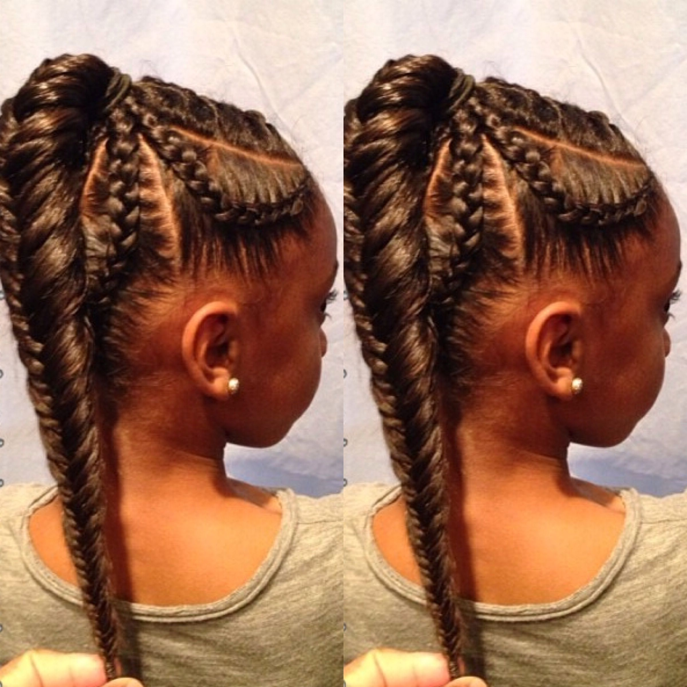 Pin On Natural Hair And Braids Inside Trendy Ponytail Fishtail Braided Hairstyles (View 17 of 20)