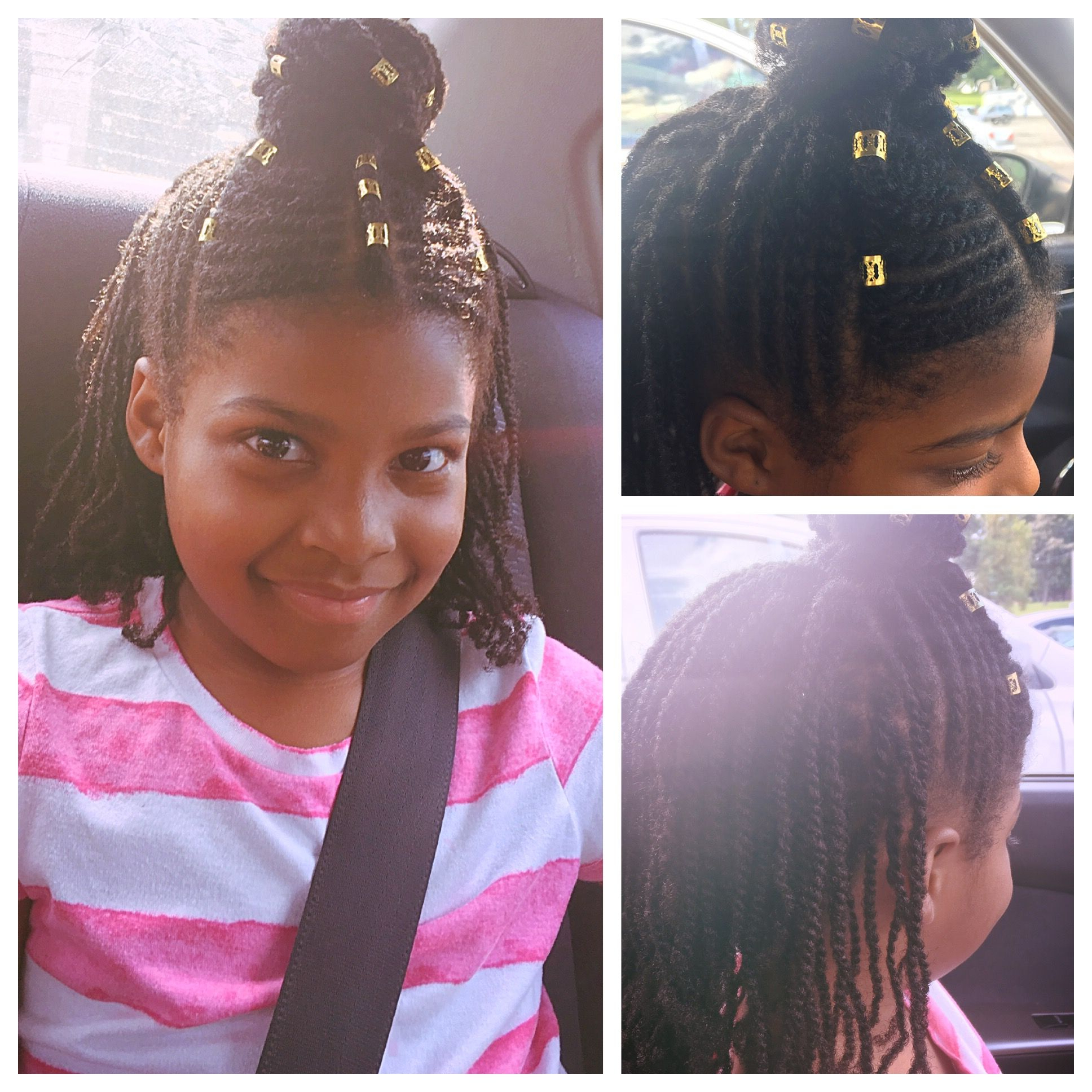 Pin On Natural Hair Styles Regarding Most Recently Released Half Up Buns Yarn Braid Hairstyles (View 14 of 20)