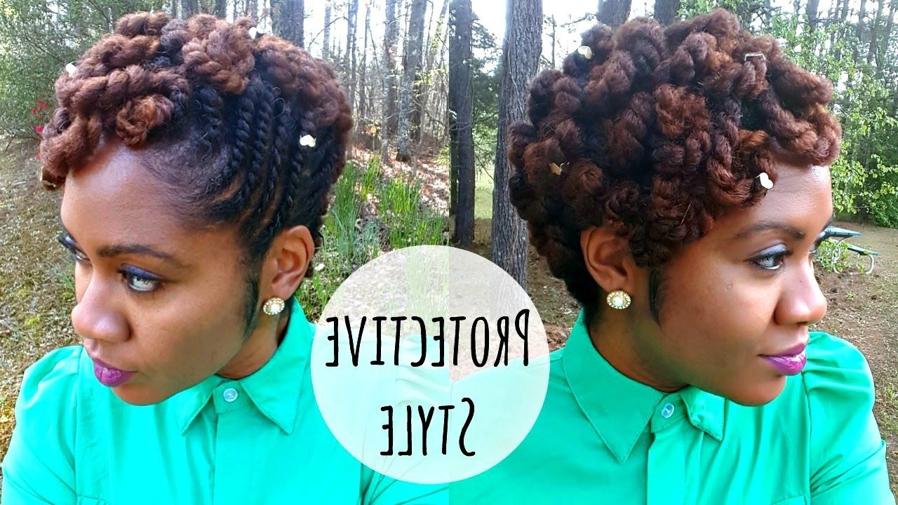 Pin On Natural Hair Styles With Regard To Popular Updo Hairstyles With 2 Strand Braid And Curls (View 17 of 20)
