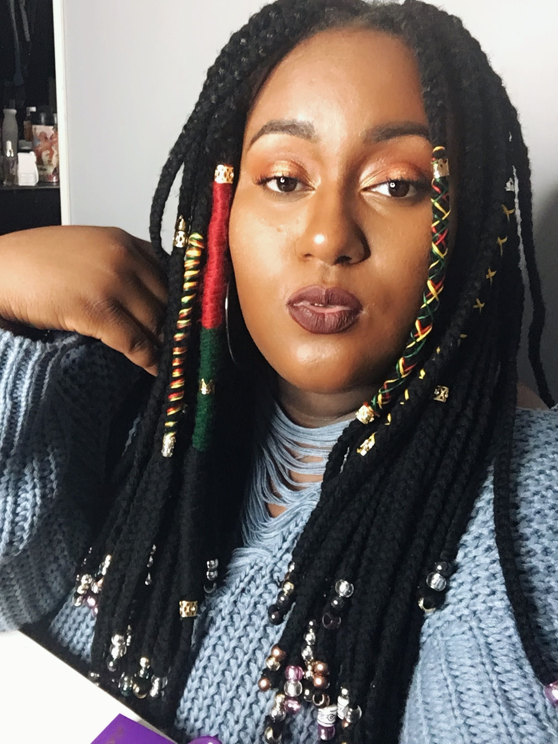 Pin On Natural Hair With Regard To Trendy Braided Hairstyles With Beads And Wraps (View 14 of 20)