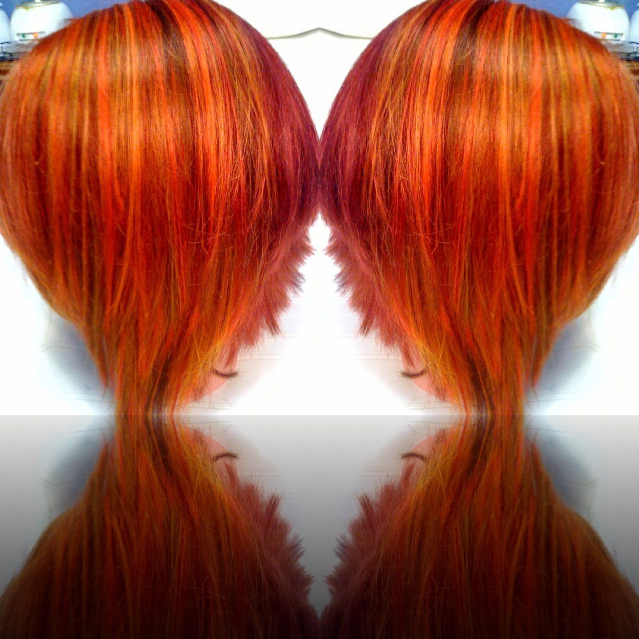 Pin On The Design Gallery With Regard To Famous Red, Orange And Yellow Half Updo Hairstyles (View 17 of 20)