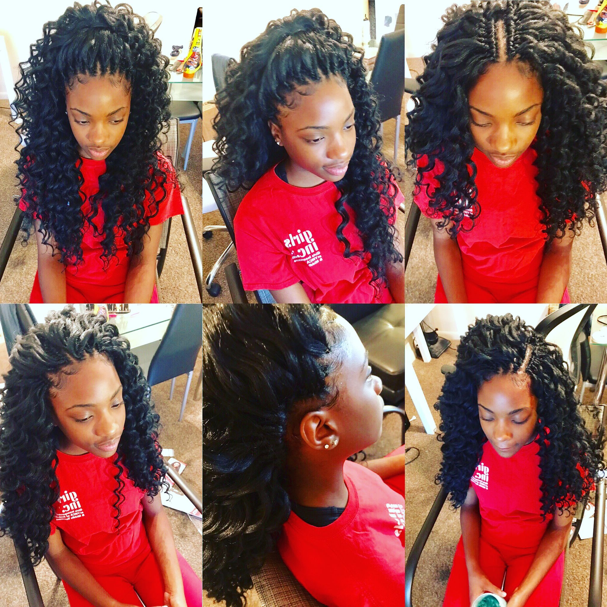 Pinanuishka Townsend On Crochets Styles #crochethair In Within 2020 Curly Crochet Micro Braid Hairstyles (View 13 of 20)