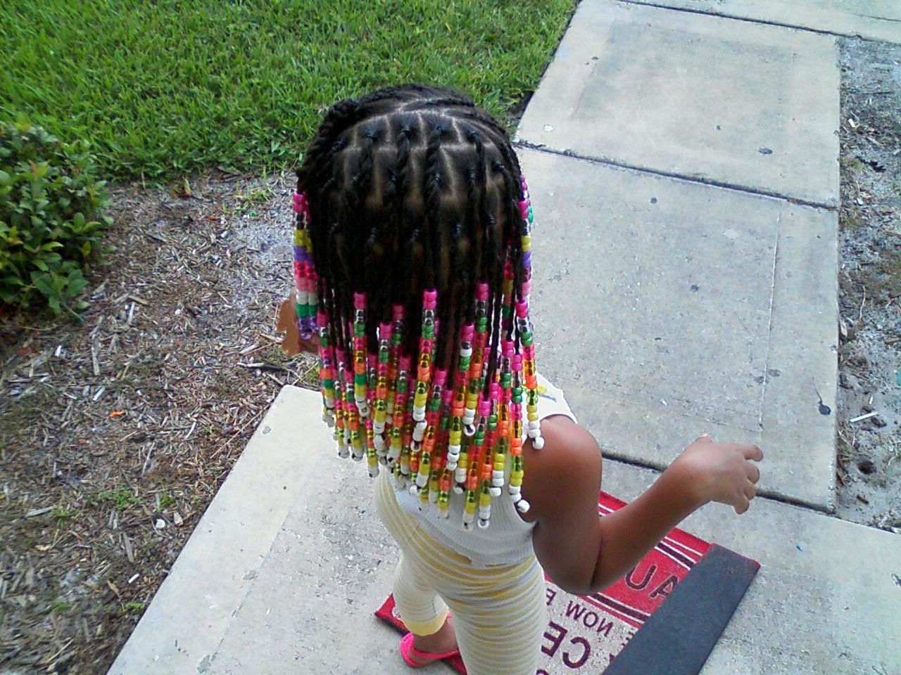 Popular Box Braid Bead Ponytail Hairstyles In Beads (simple Braids In Front And Little Ponytails In Back (View 17 of 20)
