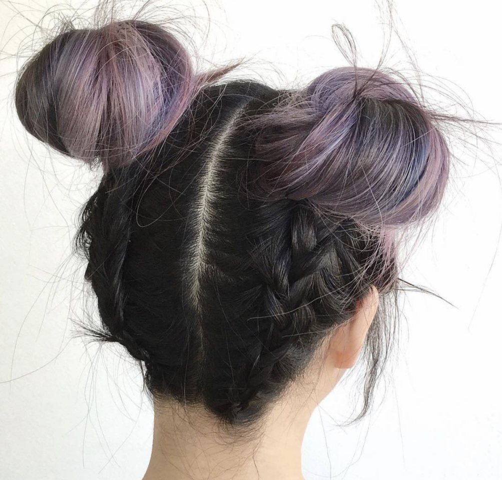 Popular Braided Space Buns Updo Hairstyles In 50 Beautiful Easy Updos For Trendy Long Haired Ladies (View 13 of 20)