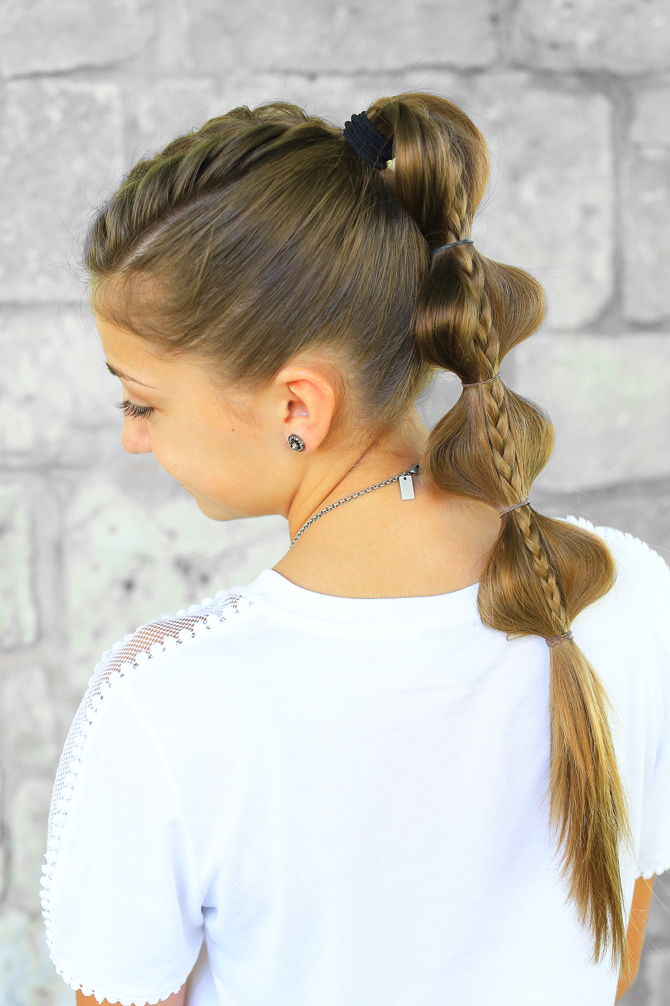 Popular Bubble Braid Updo Hairstyles With Stacked Bubble Braid (View 16 of 20)