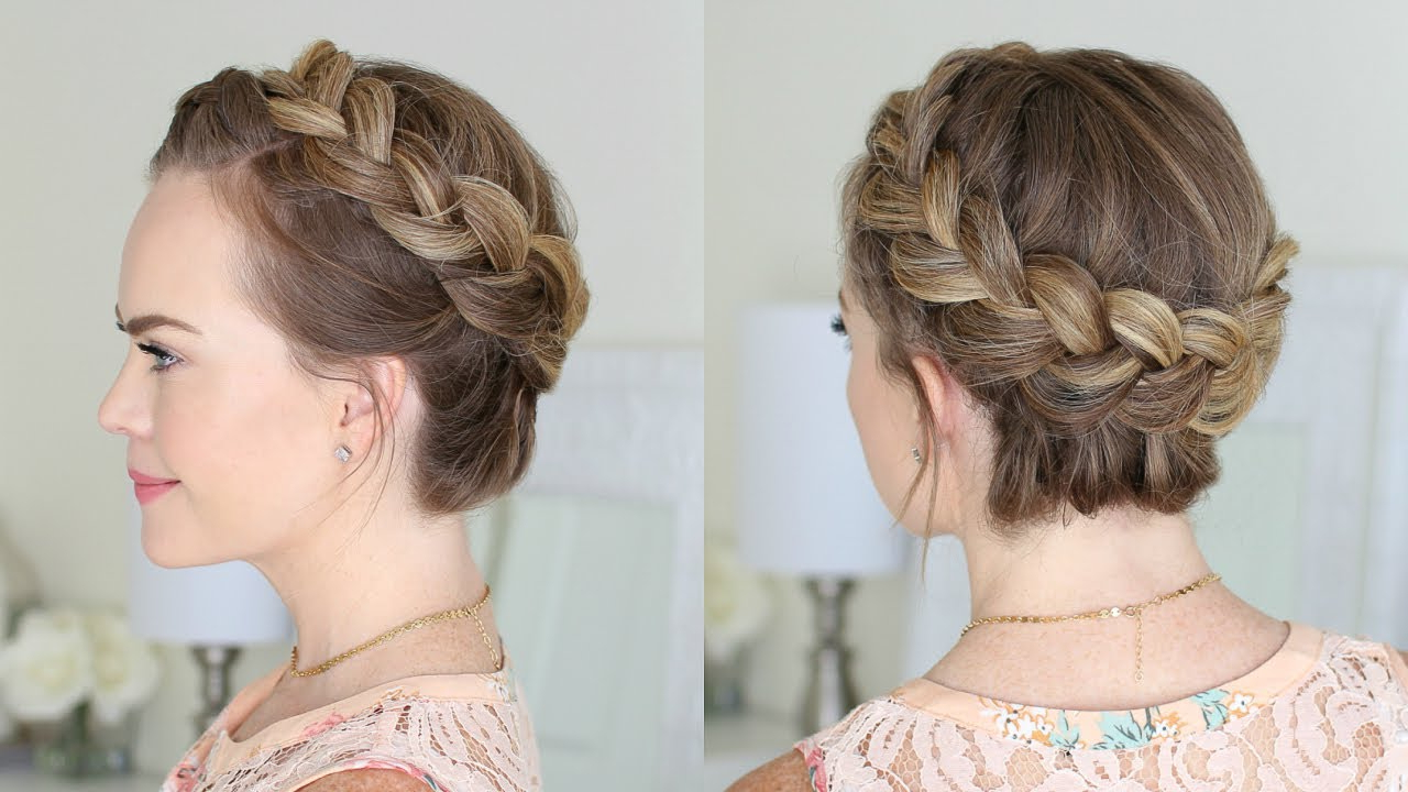 Popular Crown Braid Updo Hairstyles With Regard To Dutch Crown Braid For Beginners (View 3 of 20)