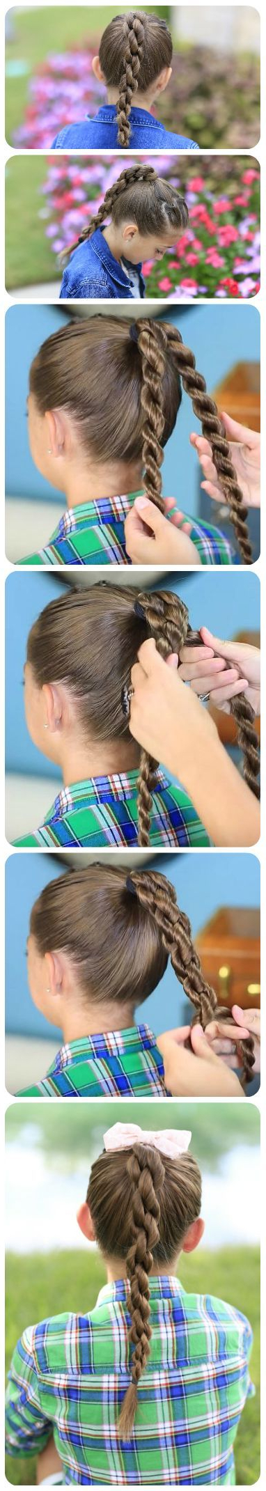 Popular High Rope Braid Hairstyles Within High Rope Braid (View 14 of 20)