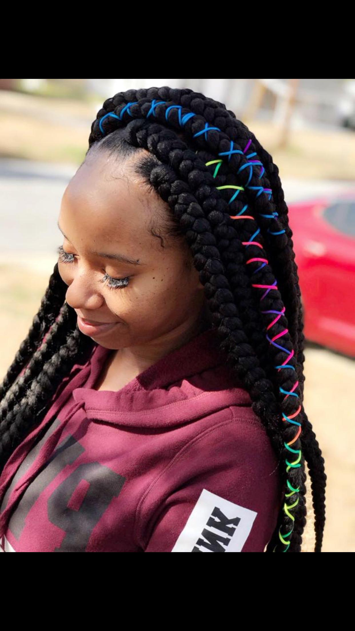 Popular Jumbo Twists Yarn Braid Hairstyles For Fashion : Jumbo Box Braids Crochetbraids Hairrrr Delightful (View 14 of 20)