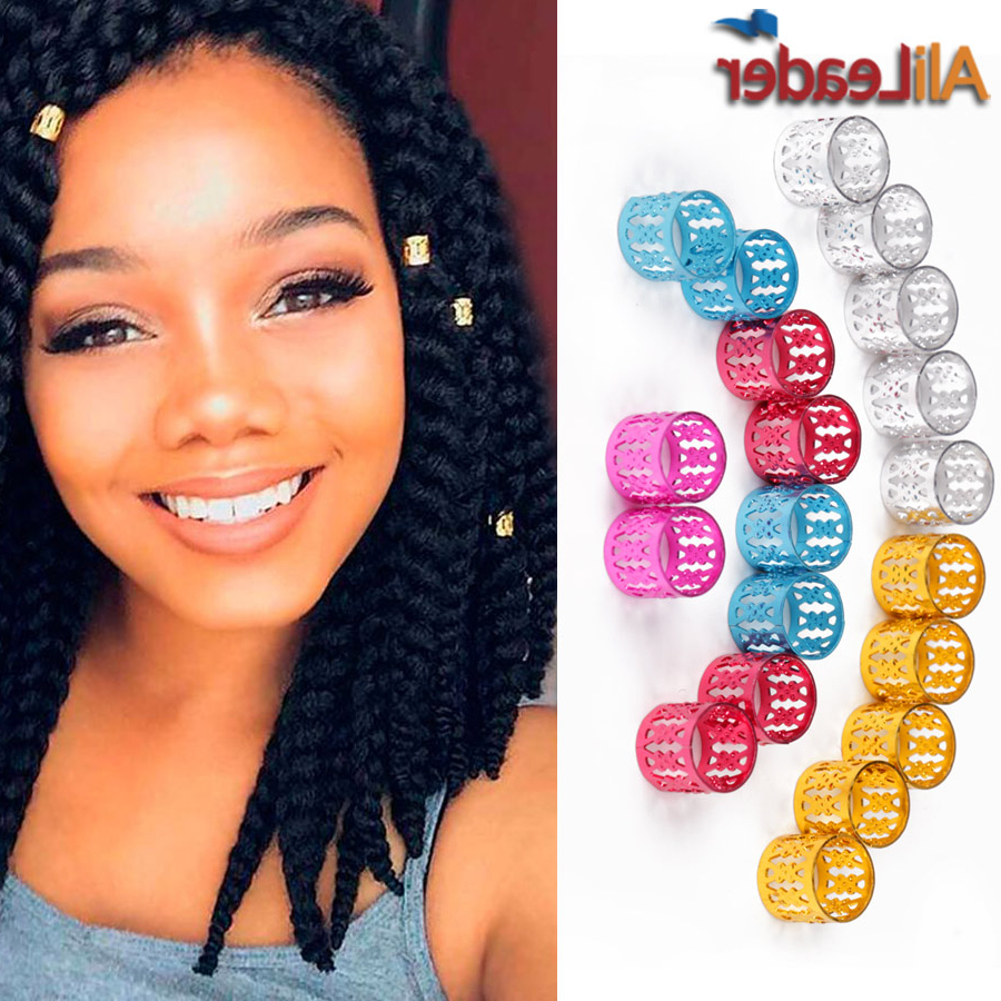 [%Popular Kanekalon Braids With Golden Beads With Regard To Us $2.6 15% Off|Top Rated 100Pcs/pack Golden Silver Dread Beads Braid Rings For Hair Adjustable Metal Dreadlock Beads Braids Hair Rings 8Mm Hole In|Us $ (View 2 of 20)