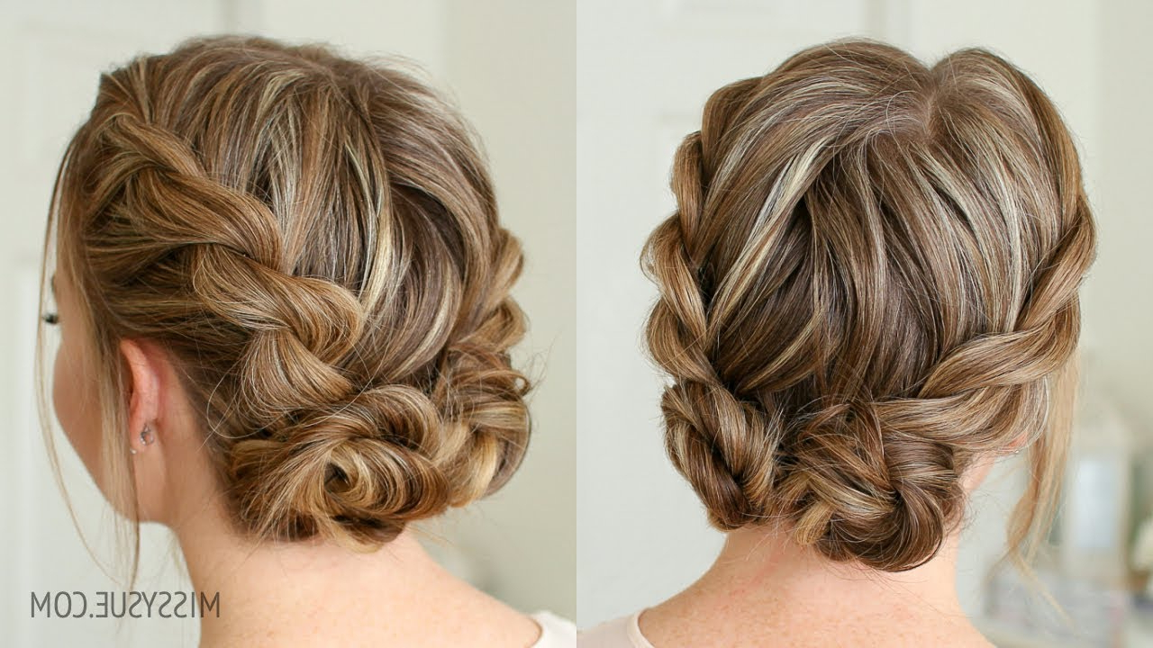 Popular Mini Braided Buns Updo Hairstyles With Double Twist Low Buns (View 11 of 20)