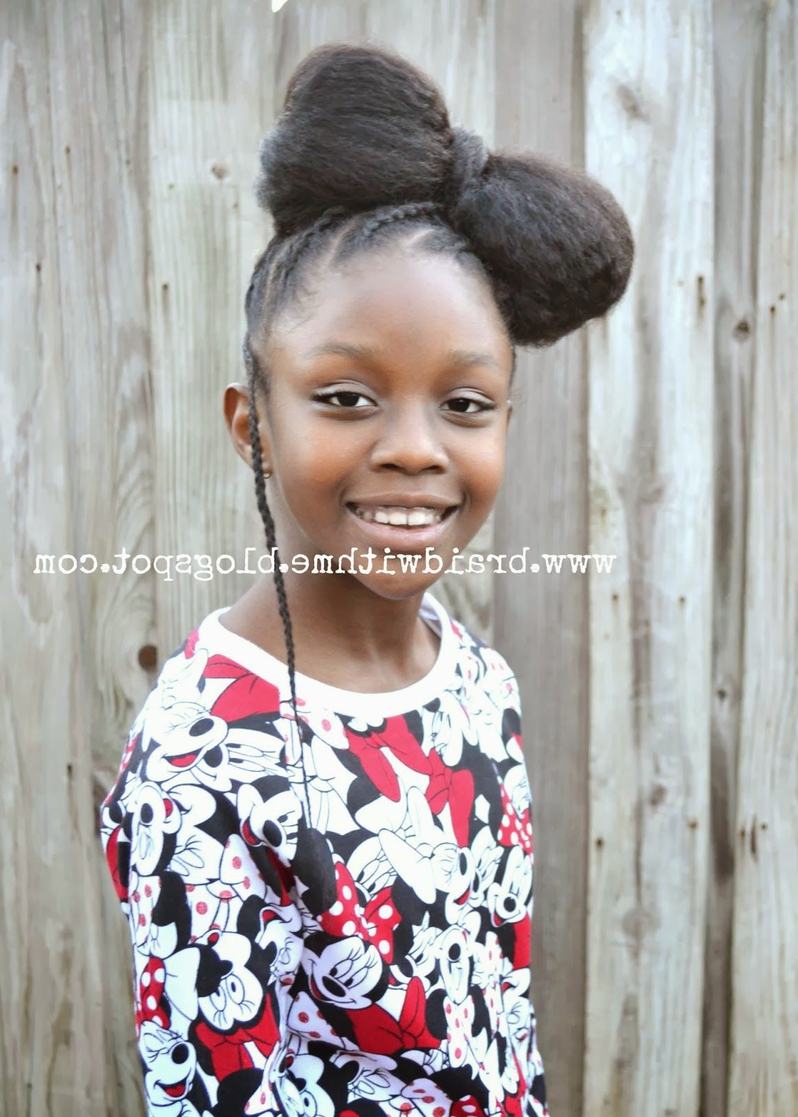 "Popular Minnie Mouse Buns Braid Hairstyles Throughout A Natural Hair ""hair"" Bow – Minnie Mouse Style (View 6 of 20)"