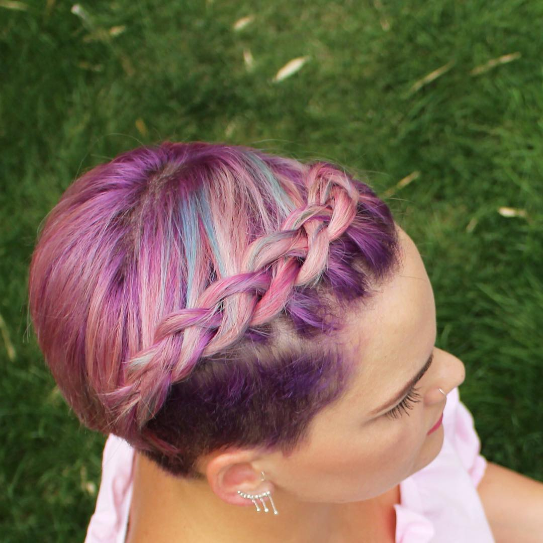Popular Purple Pixies Bob Braid Hairstyles In 29 Swanky Braided Hairstyles To Do On Short Hair – Wild (View 16 of 20)