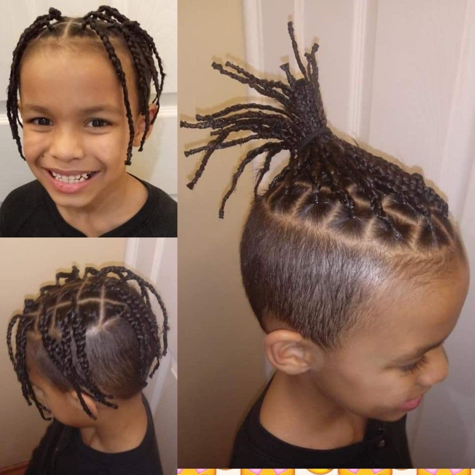 Popular Royal Braided Hairstyles With Highlights Throughout Little Boy Box Braids, Cute Style For Boys (Gallery 8 of 20)