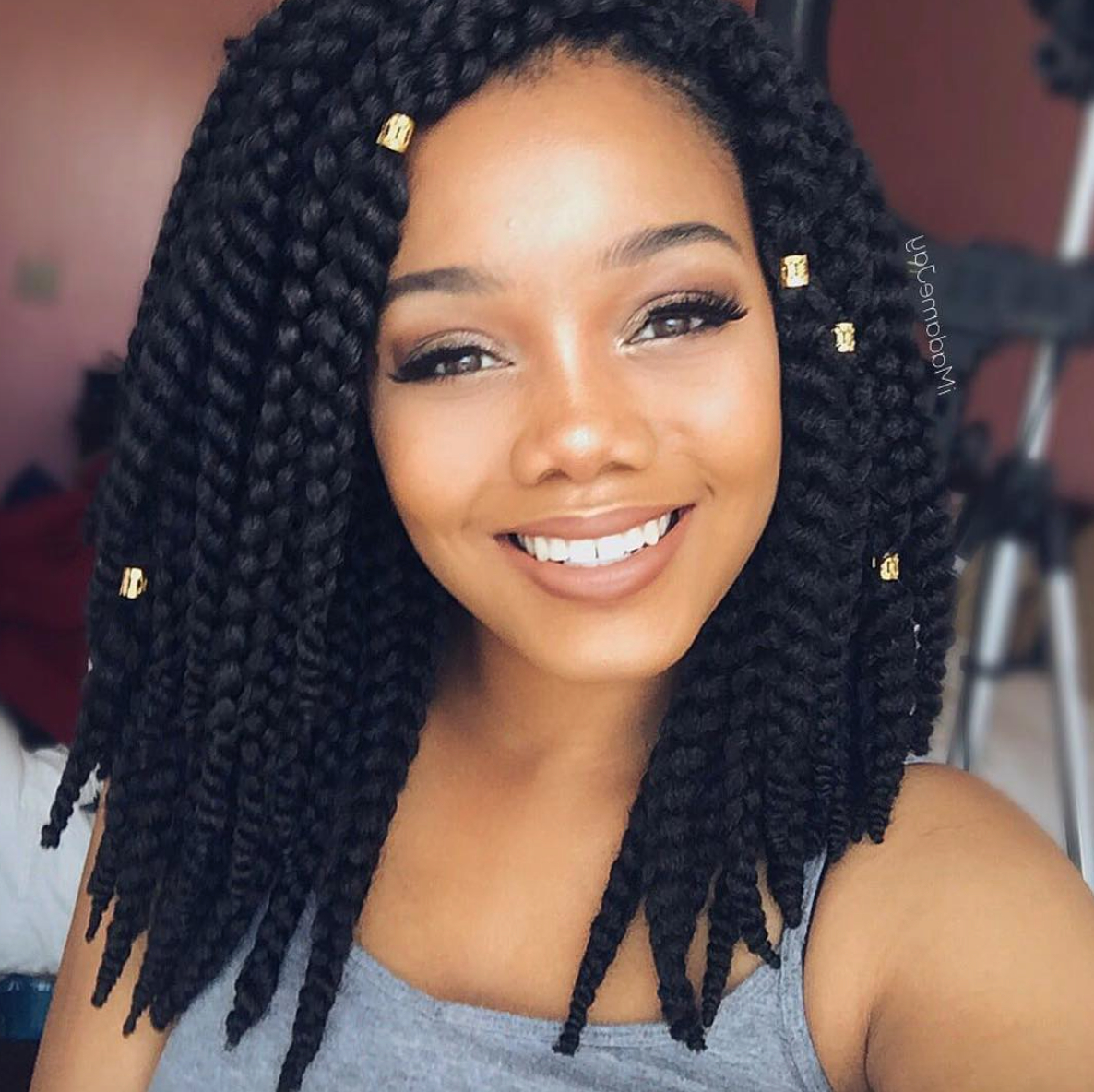 Popular Short And Chic Bob Braid Hairstyles Throughout Pinmarie Kanu On Box • Braids In 2019 (Gallery 1 of 20)