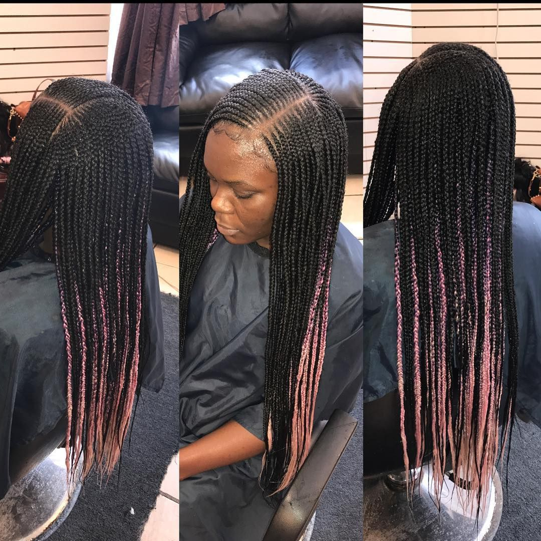 Popular Side Parted Loose Cornrows Braided Hairstyles For Sidepart #hairbyqueenbee #beyoncébraids #braids (View 18 of 20)