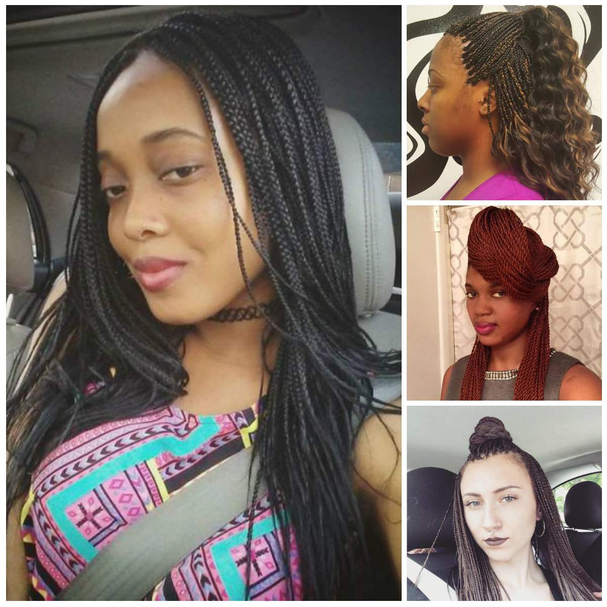 Popular Sleek And Long Micro Braid Hairstyles Throughout Crazy Micro Braids For 2017 (Gallery 15 of 20)