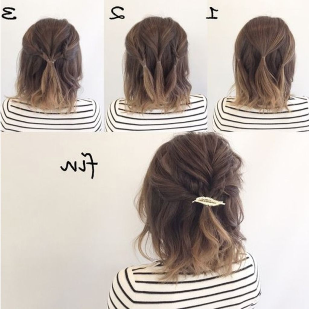 Popular Tie It Up Updo Hairstyles Within 30+ Easy Half Up Hairstyles That'll Only Take Minutes To (View 14 of 20)