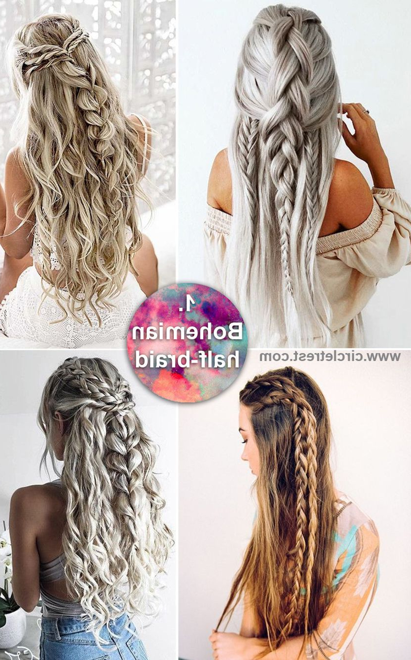 Preferred Boho Half Braid Hairstyles Inside 12 Long Hairstyles For Everyone (Gallery 1 of 20)