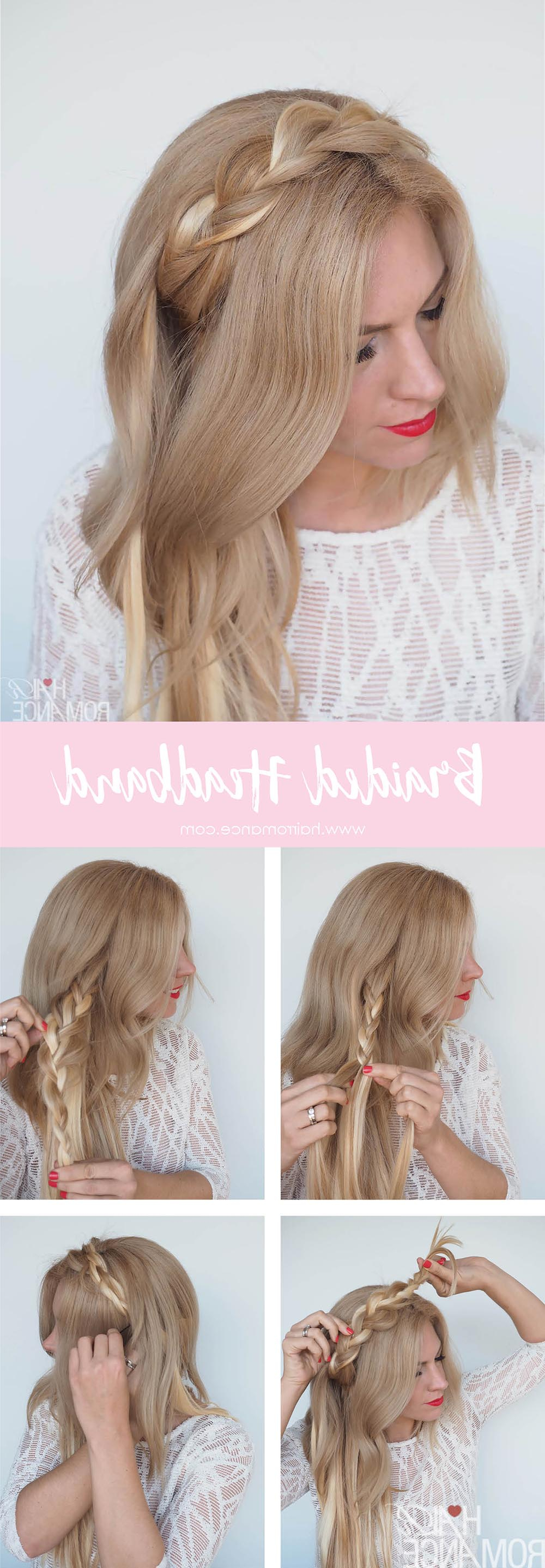 Preferred Braided Headband Hairstyles For Curly Hair Pertaining To Braided Headband Hairstyle Tutorial – Hair Romance (Gallery 19 of 20)