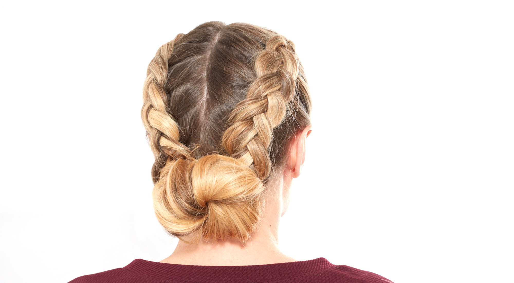 Preferred Braided Space Buns Updo Hairstyles Pertaining To How To Do A Double Dutch Braided Bun (View 14 of 20)