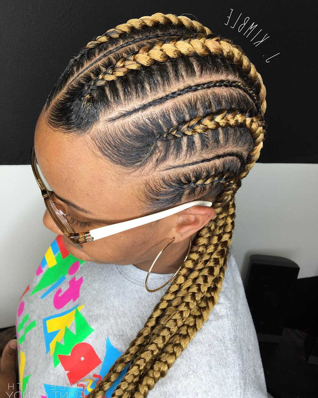 Preferred Geometric Blonde Cornrows Braided Hairstyles With 70 Best Black Braided Hairstyles That Turn Heads In (View 10 of 20)