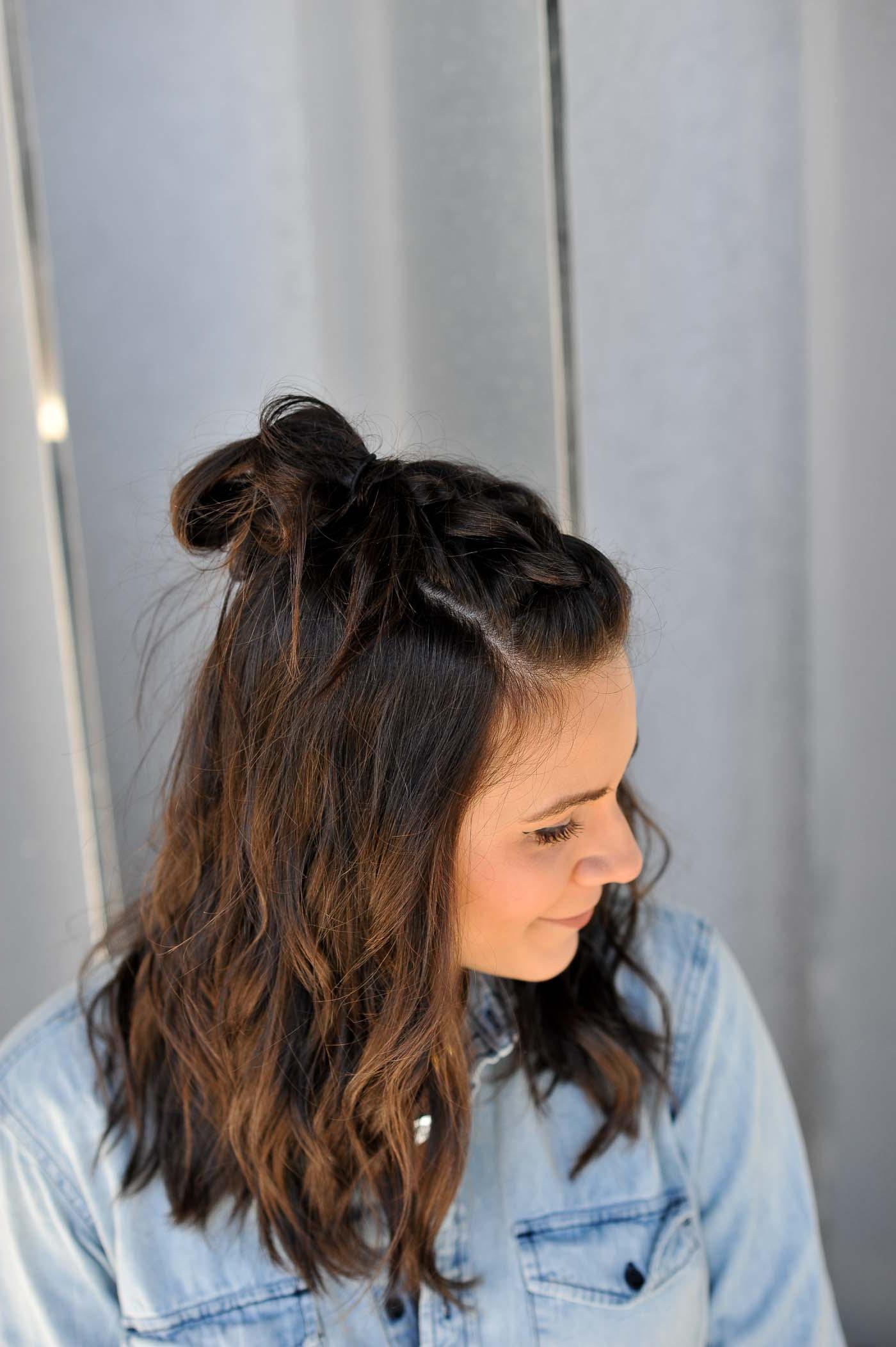 Preferred Half Up, Half Down Braid Hairstyles Inside Braided Half Up Half Down Hairstyle Tutorial (View 19 of 20)