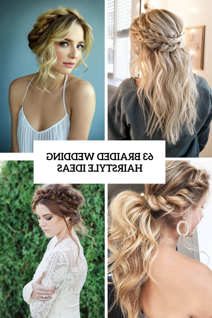 Preferred Halo Braided Hairstyles With Bangs Throughout 63 Braided Wedding Hairstyle Ideas – Weddingomania (Gallery 20 of 20)