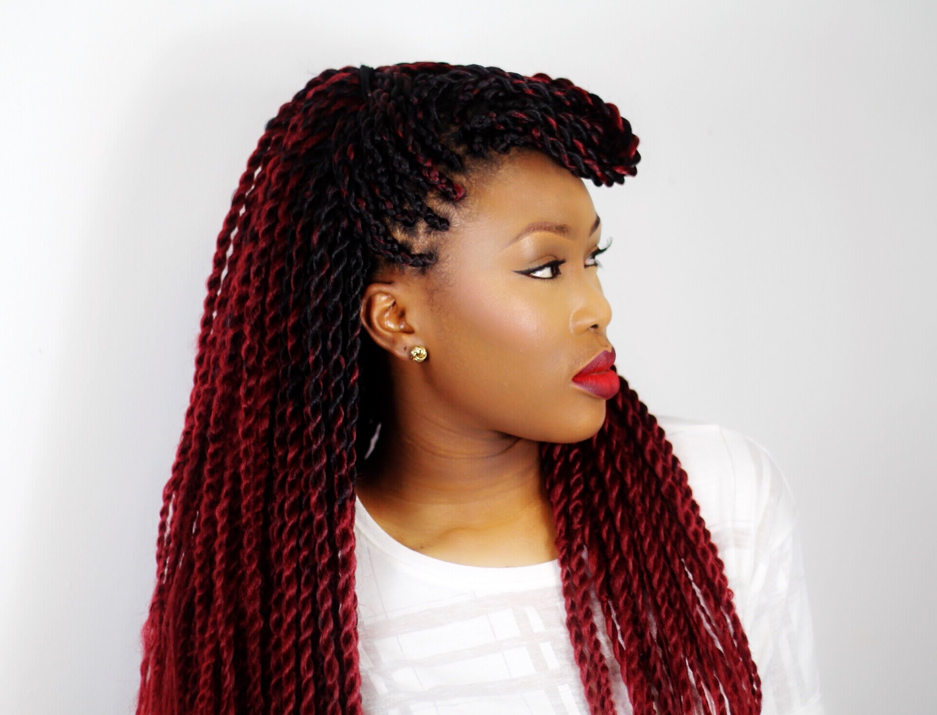 Preferred High Rope Braid Hairstyles In 30 Protective High Shine Senegalese Twist Styles (View 15 of 20)