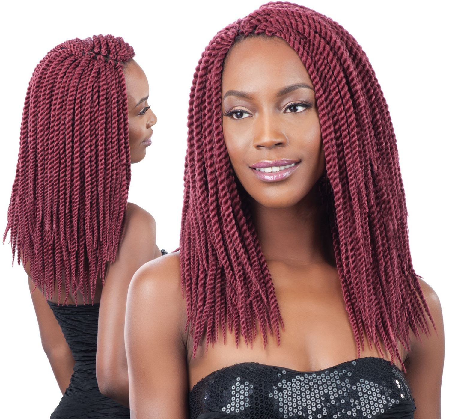 Preferred Long Twists Invisible Braids With Highlights With Regard To Model Model Glance Crochet Braid Senegalese Twist Large 12 Inch (View 18 of 20)
