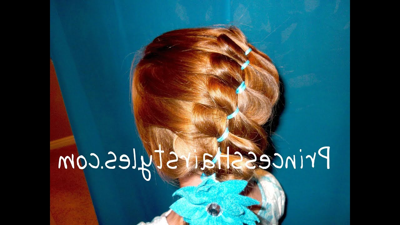 Preferred Loose 4 Strand Rope Braid Hairstyles In Princess Hairstyles, Unique Pleated Ribbon Style, Loose French Braiding (View 19 of 20)