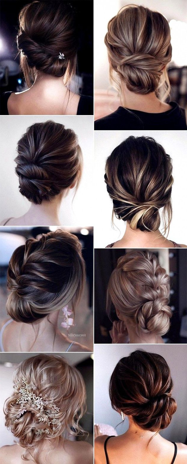 Preferred Low Braided Bun Updo Hairstyles Within 15 Stunning Low Bun Updo Wedding Hairstyles From (Gallery 5 of 20)