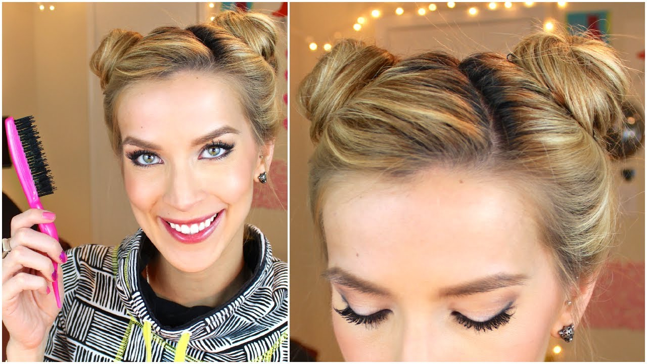 Preferred Mini Buns Hairstyles Within Space Buns Hair Tutorial (cute + Easy) (Gallery 3 of 20)