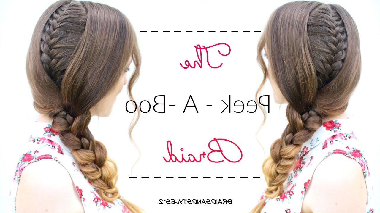 Featured Photo of Peek A Boo Braided Hairstyles