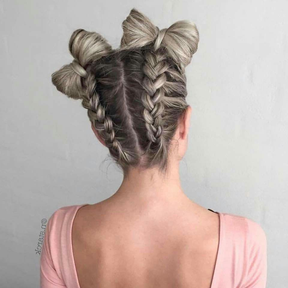 Preferred Reverse French Braid Bun Updo Hairstyles In Pin On Hair Styles (Gallery 12 of 20)