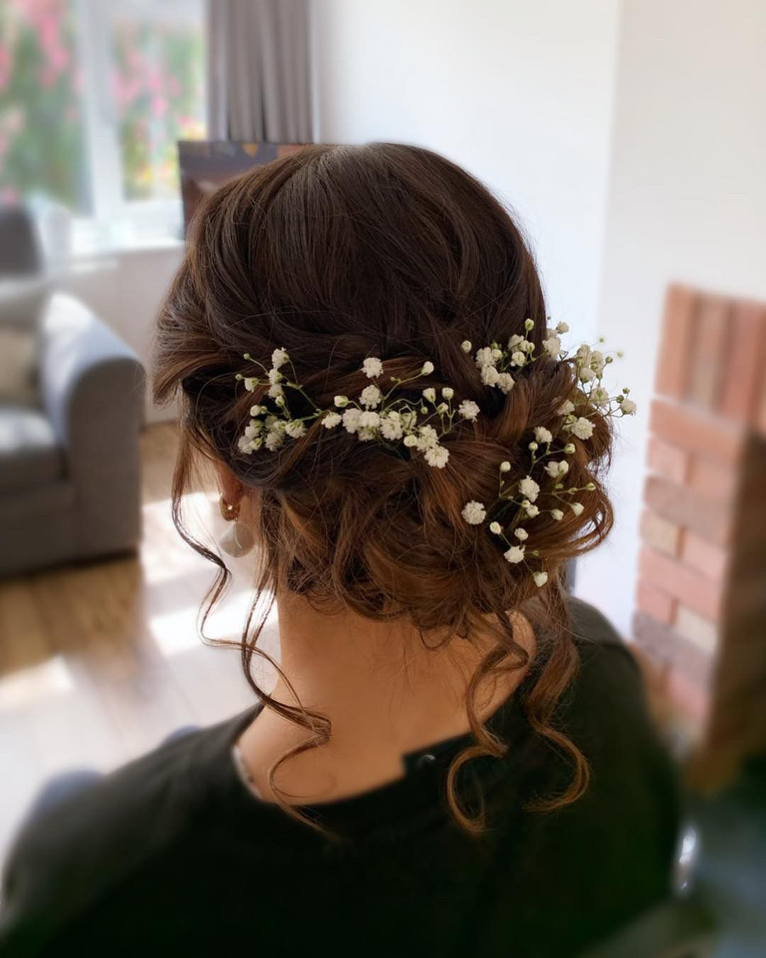 Preferred Romantic Florals Updo Hairstyles For Bridal Updo – Romantic, Boho, Relaxed, Floral (View 18 of 20)